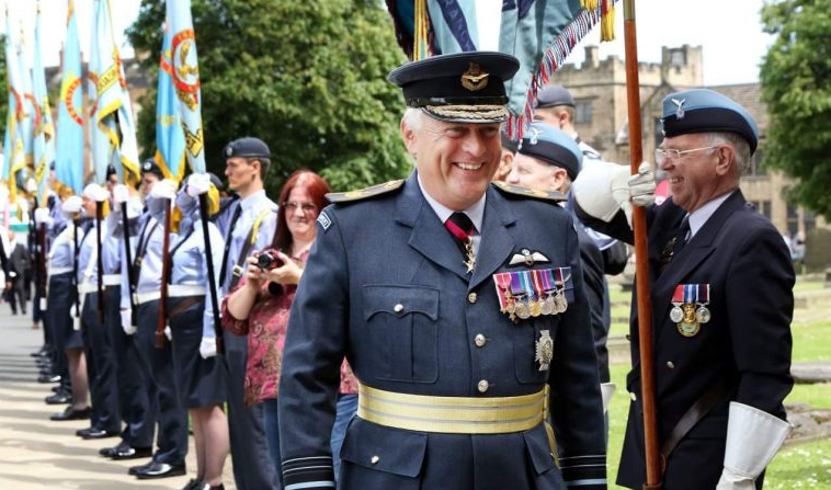 Air Marshal Sir Baz North at the RAF 100 Train Naming Ceremony/ Durham Service. 23rd June 2018
